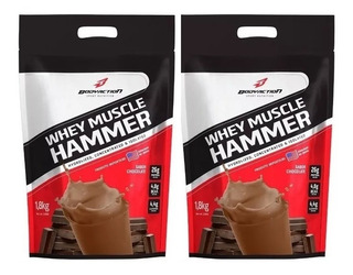 2x Muscle Hammer Whey Iso/ Hidro 1.8kg Bodyaction