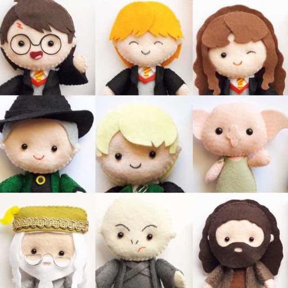 Boneco De Feltro - Harry Potter - Kit Com 9 Unidades
