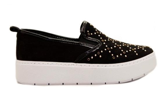 Zapatos Pancha Mujer Nobuck Negro Base Media Ramarim