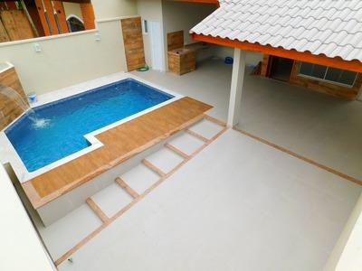 Casa Nova Com Piscina No Oásis Em Peruíbe À Venda.