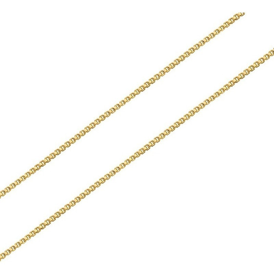 Gargantilha Corrente Veneziana Prata 925 Folheada Ouro 45cm