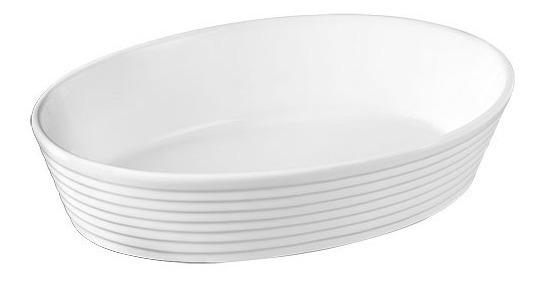 Travessa Oval Porcelana Grande Cozinha Largura 35,5 Cm