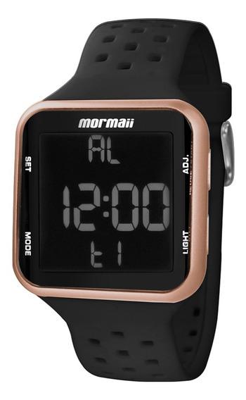 Relógio Feminino Mormaii Silicone Preto Mo6600/8j Original