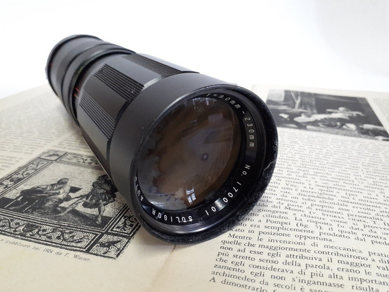 Lente De Câmera Soligor Auto-zoom 1:4.5 F=90mm 230mm Japan