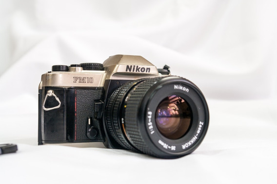 Reflex Nikon Fm-10 Com Lente 35-70