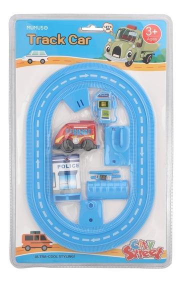 Pista De Auto Mumuso Track Car Juguete Azul