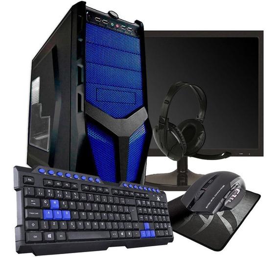 Kit Pc Gamer Quadcore 8gb Ram Hd 500gb Geforce Tela 20