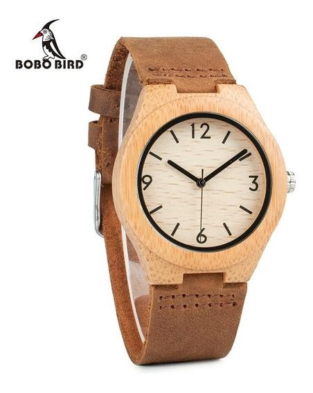 Reloj De Madera Bobobird A44 Moda Hombre Mujer Moderno