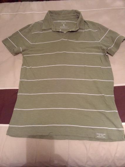 Playera Tipo Polo Calvin Klein, Color Verde, Talla S
