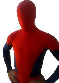 Disfraz Hombre Araña Spiderman Algod C Lycra Pesado A Medida