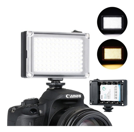 Iluminador Led Hd-160 Camera Canon 70d T5i 96 Leds