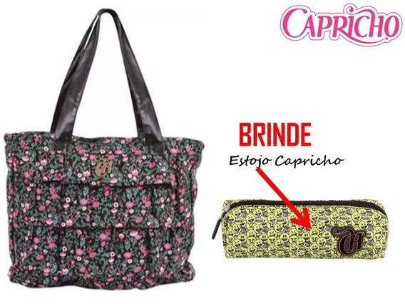 Bolsa Capricho Floral Preto - Dermiwil + Brinde Capricho