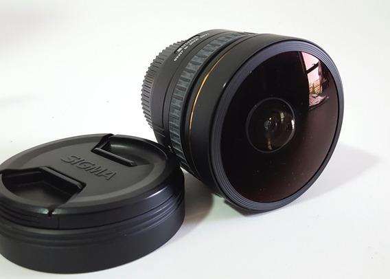 Lente Sigma 8mm Ex Dg 3.5 - P/ Nikon