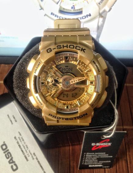 Relógio Casio Gshock Ga-110 Ouro Promoção Frete Grátis