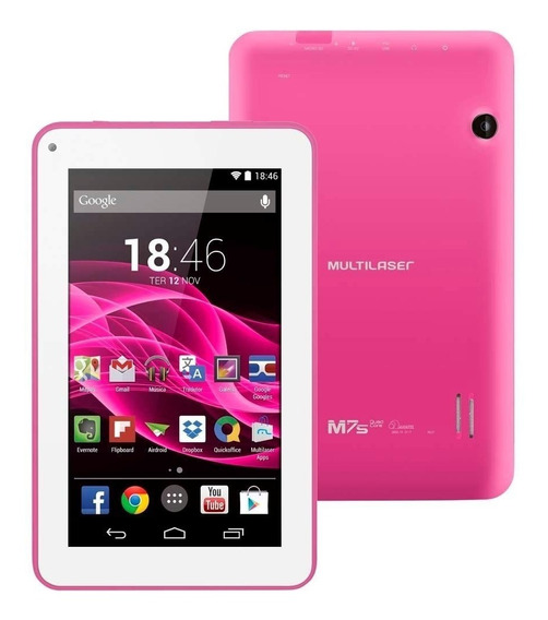 Tablet Multilaser M7s Quad Core Wi-fi -7 Rosa