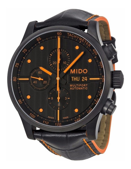 Reloj Mido Multifort Automático Piel Negra M0056143605122