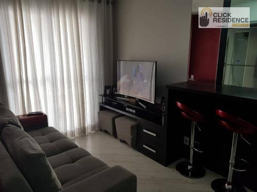 Imagem 1 de 20 de Apartamento 2 Dormitórios ( Lazer Completo - Sacada ) À Venda De 52,44 M² Por R$ 320.000 - B. Assunção - São Bernardo Do Campo/sp - Ap0903