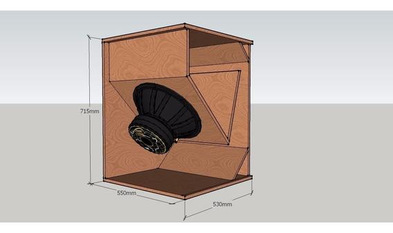 Projeto Original Caixa T15 Sub Graves