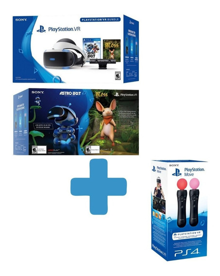 Playstation Vr V2 Bundle Astro+ Bot Moss + Câmera + Par Move