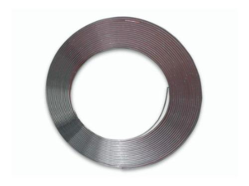 Imagem 1 de 4 de Rolo De Friso Filete Cromado Adesivo 20mm - 5 Metros