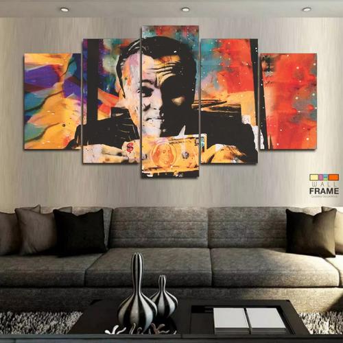 Imagem 1 de 4 de Quadro Decorativo Lobo Wall Street Dólar Frete Grátis