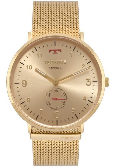 Relógio Technos Dourado Classic Slim 1l45ax/4a