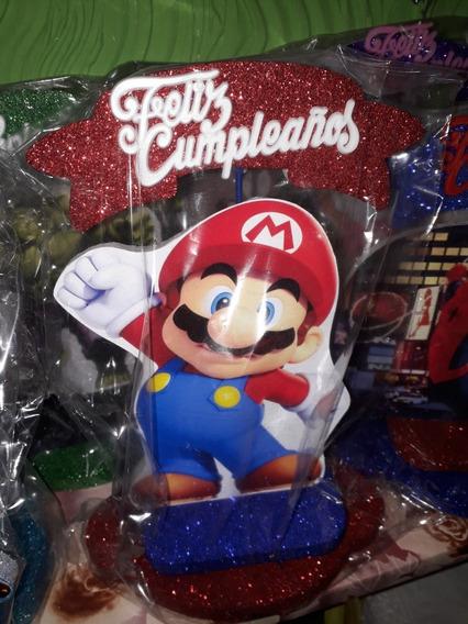Adornos Para Torta Mario Free Fire Lol Muchos Mas