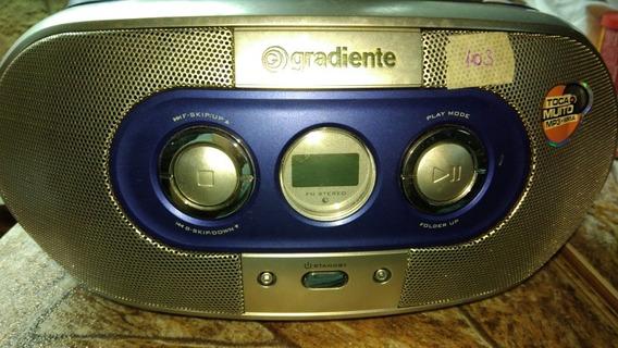 Som Portátil Cd Mp3 Radio Fm Gradiente