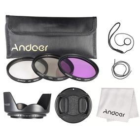 Estojo Filtro Andoer 52mm ( Uv + Cpl + Fld ) + Malote Transp