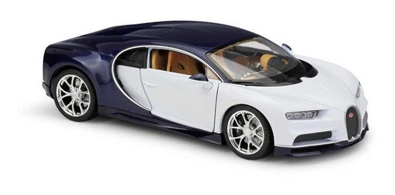 Mini Automovel Bugatti Chiron 1:24 Pneu Borracha Portas Capô