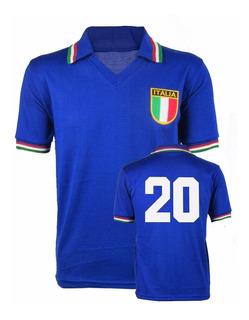 Camisa Retrô Itália Copa De 1982 - Paolo Rossi