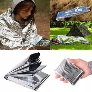 Kit 2 Corbertor Termico Primeiro Socorros Camping Resgate