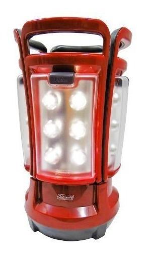 Lampara Roja Con Led 4 Paneles Usa 8 Baterias D Coleman