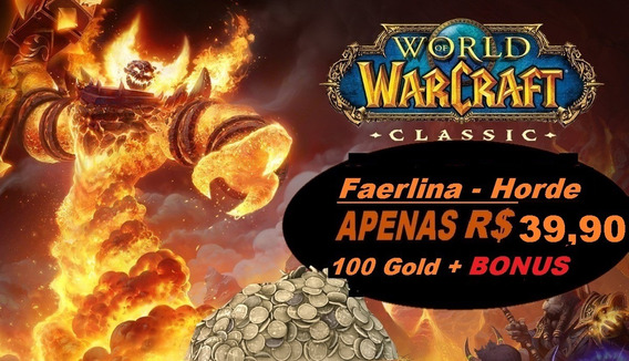 Wow Classic Gold -todos Servidores - Horde 5000g (5k)