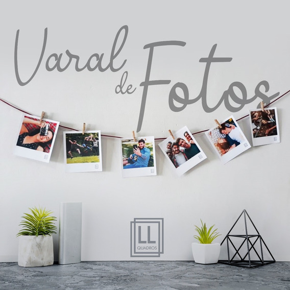 Varal Decorativo Para Foto Polaroid (frete Grátis)
