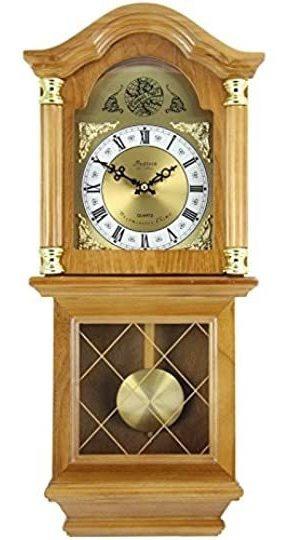 Bedford Clock Collection - Reloj De Pared Clásico Con Péndu