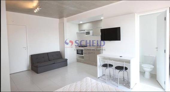 Apartamento Mobiliado Com 1 Dormitório E 1 Suíte Na Vila Olimpia - Mr68728