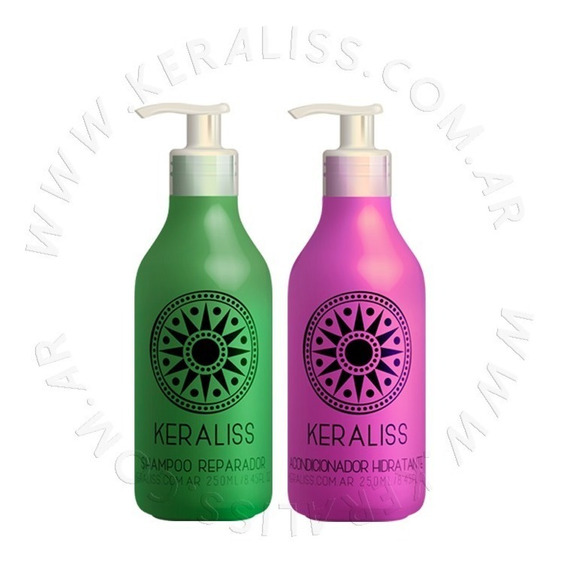 Keraliss Kit Shampoo Rep + Acondicionador Hidratante 250 Ml