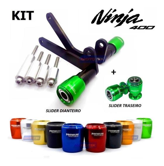 Kit Slider Protetores Premium Racing Kawasaki Ninja 400