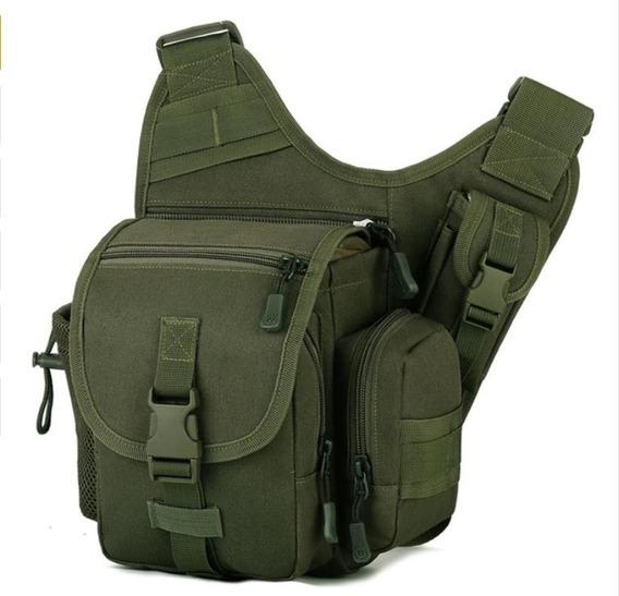 Mochila Bolsa Cangurera Push Pack Tactica Militar 5 Colores