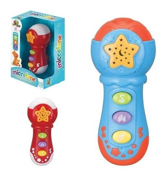 Microfone Infantil Com Efeitos De Luzes Som E