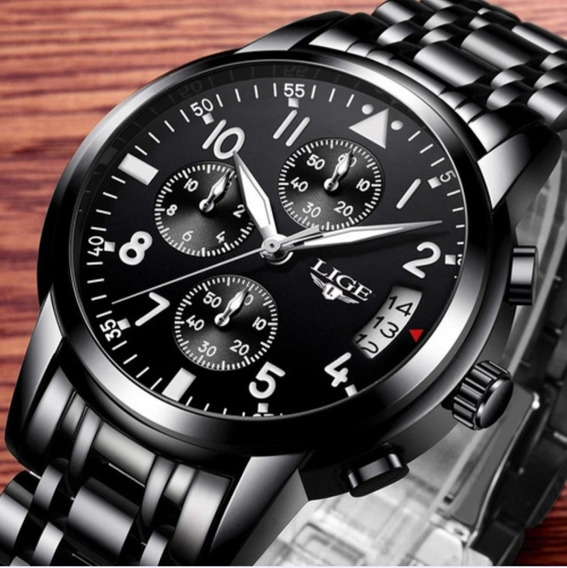 Relógio De Luxo Lige 9825 Promoção