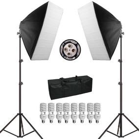 Kit De Iluminação Para Estúdio Fotográfico Pk-sb01 Luz 110v