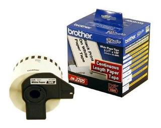 Cinta Brother Dk-2205, 62mm X 30,48 Mts. Continuo. Factura