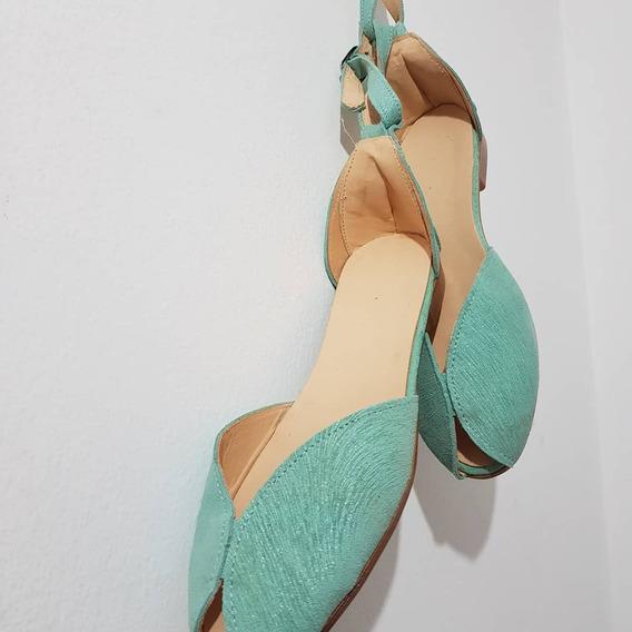 Sandalias Zapatos Chatas De Cuero Boca Pez Negro Nude Blanco