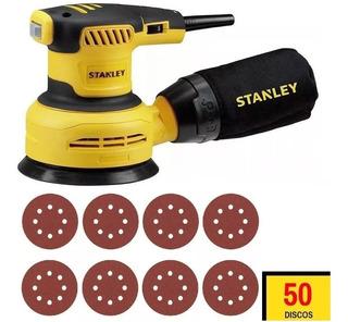 Lixadeira Roto Orbital 5 125mm 300w Ss30 Stanley + 50 Lixas
