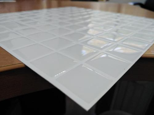 Azulejo Vinil Adhesivo Venecitas  3d Blanco -25.5x25.5 Cm