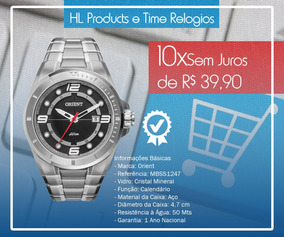 Relógio Orient 5atm 47mm Mbss1247