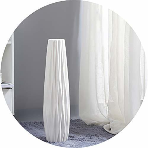 Jarrones Piso Blanco Cerámica Decoración Decorativa Simple P