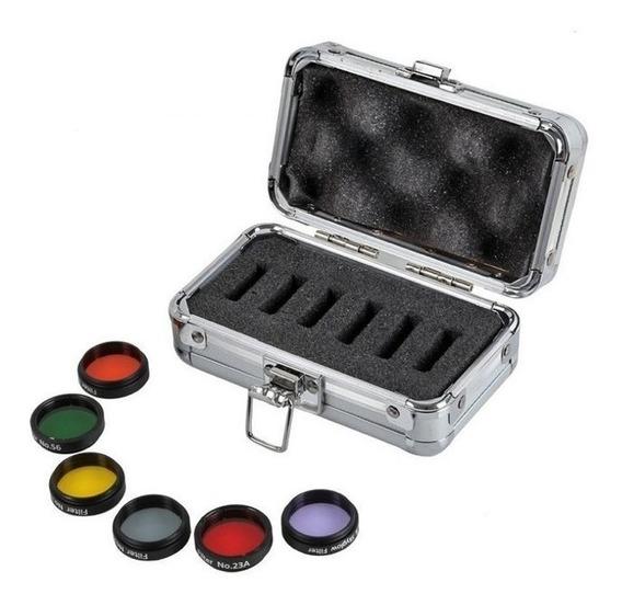 Kit 6 Filtros Coloridos Para Telescópio 1,25